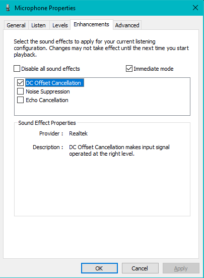 Device Settings and Tweaks : Matrix Mic & Player : User's Guide