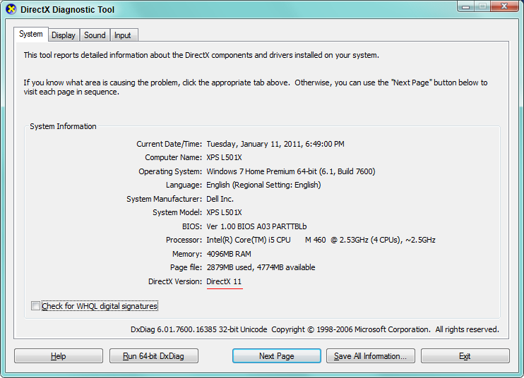 How to Free Download, Open and Use DirectX Diagnostic Tool